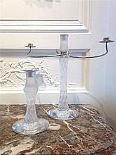 LALIQUE FRANCE modèle 2006 Flambeau formant candél