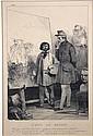 D'après Nicolas Toussaint CHARLET (1792-1845)  SUITE DE CINQ GRAVURES représentants des scènes diverses Fin XIXè siècle 37 x 24,5 cm