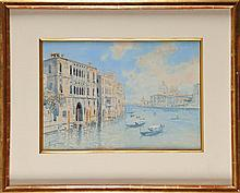 Pietro SCOPETTA (1863-1920) Vue de Venise Aquarelle Signé en bas à gauche 24 x 35 cm  Watercolour, Signed lower left, 9,4 x 13,7 in.