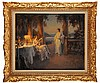 Delphin ENJOLRAS (1857-1945)  Sous la pergola Sur sa toile d'origine Signé en bas à droite  54 x 65 cm  On its original canvas, Signed lower right, 21,2 x 25,5 in.