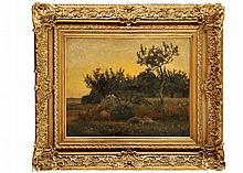 Ecole FRANCAISE vers 1860 Paysage  Huile sur toile 50 x 61 cm  Oil on canvas, 19,6 x 24 in.