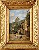 Paul Désiré TROUILLEBERT (1829-1900)  Cour de ferme Huile sur toile Signé en bas à droite  Oil on canvas, Signed lower right,