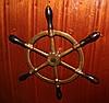 Petite barre bronze et bois de 8 kg, diam. 62cm