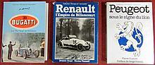 « Bugatti, les « pur sang » de Molsheim » par Pierre Dumont ; « Renault, l'empire de Billancourt » par Jacques Borgé et Nicolas Viasnoff ; « Peugeot sous le signe du Lion » par Pierre Dumont.