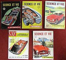 Lot de 5 numéros de Science et Vie sur l'automobile.