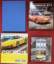 Lot Porsche « The complete book of Porsche 911, every model since 1964 » ; « Porsche 911, the definitive history 1963 to 1971 » ; « Porsche » ; « Porsche, la légende ».