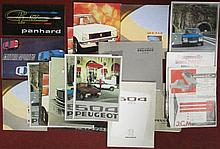 Lot de catalogues Peugeot, Panhard et Matra Sport.