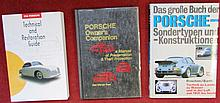 Lot Porsche, « Das grosse buch Sondertypen und konstruktionen »; « 356 technical and restoration guide »; « Porsche Owner's Companion ».