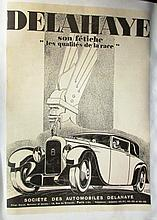 Affiche entoilée de Delahaye par René Ravo.
