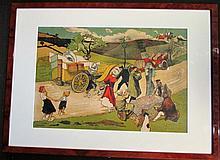 Lucien Faure « En Panne » 1903, 24 x 31 cm, encadré