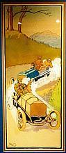 Harry Eliott (Charles Edmond Hermet) 1882-1959 ;  « La Descente », encadrée.