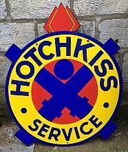 Plaque émaillée HOTCHKISS Service.