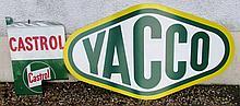 Lot de 2 plaques : YACCO et CASTROL