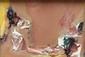 Olivier DEBRE (1920-1989) Ocre rose à d'Obidos  Huile sur toile Contresigné, daté (1972) et titré, dédicacé à Raymond et Marie-Anne, au dos 17 x 25 cm