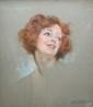 Lucien LEVY-DHURMER (1865-1953) Portrait de Marthe Régnier Pastel sur papier signé en bas à droite 51 x 43 cm (à vue)