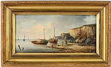 Victor Gabriel GILBERT (1847-1935) Scènes animées en bord de mer Deux huile