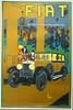 Affiche FIAT signée Ray Mount, encadrée, 64 x 43 cm