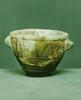 égypte VIIIème-VIIème siècle avant J.-C.  BOL. Fritte émaillée verte, décor   linéaire brun  H. 5 cm