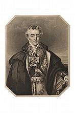 WELLINGTON (Arthur Wellesley, duc de). Lettre autographe signée, en anglais, à Miguel-Ricardo de Álava. Londres, 13 avril 1831. 5 pp. in-4, une pliure légèrement renforcée. Portrait gravé sur cuivre joint. PUISSANTE ANALYSE STRATEGIQUE SUR LA GUERRE