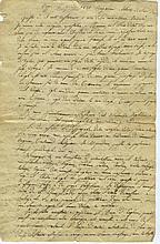 [NAPOLÉON IER]. Manuscrit, en italien. 6 pp. in-folio, marges légèrement effrangées.   LE TESTAMENT DE L'EMPEREUR et de ses deux premiers codicilles, en copie ancienne.2