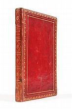 SAINTE-MARIE Louis-Marie Rapine-Dumezet de. Essais historiques sur l'effusion continuelle du sang humain par la guerre. Nevers, Lefebvre, 1807 , in-8 de 180 pp. mal chiffrées 179, reliure de l'époque maroquin à long grain rouge, encadrement de