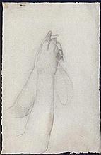 Thomas COUTURE ( Senlis, 1815 - Villiers-le-Bel, 1879 ) «Étude des mains de