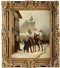 Edouard DETAILLE (1848-1912).  Ecole française. « L'alerte ! Gendarme prév