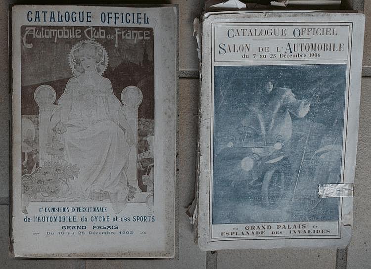 A.C.F, Automobile Club de France, Catalogue officiel du Salon de l'Automobile, du Cycle et des Sport, années 1903 et 1906.