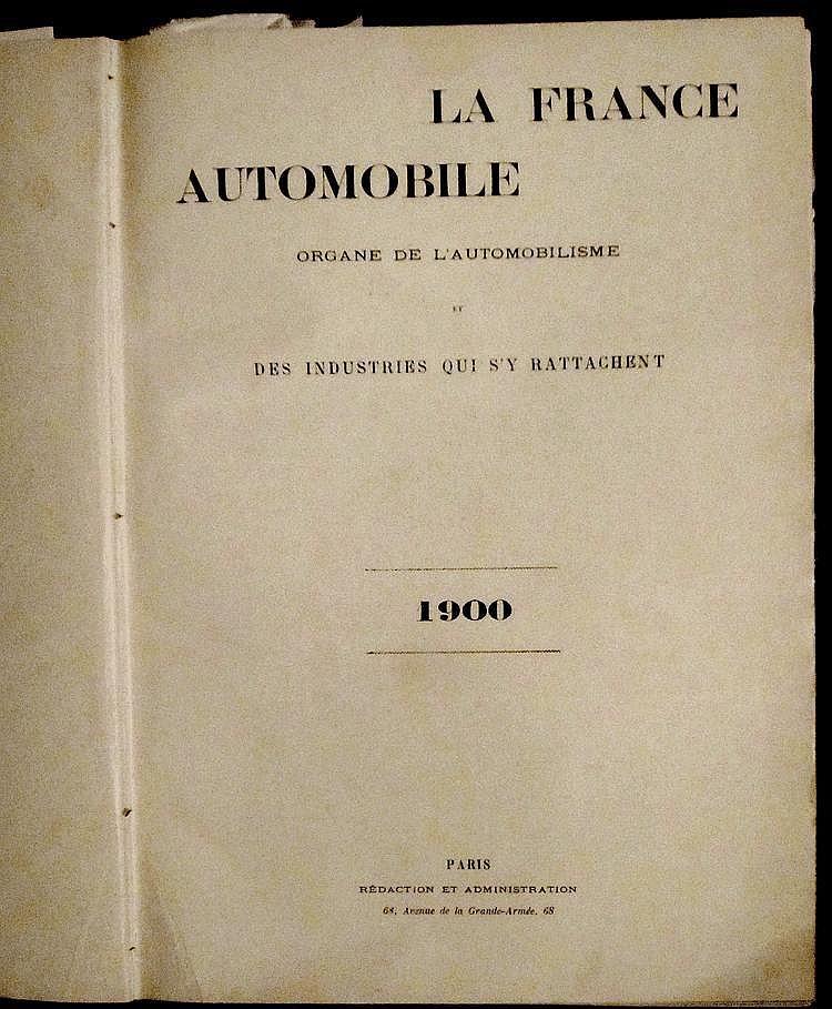 La France Automobile 1900,  5 ème année, 52 numéros, reliée en 1 volume.