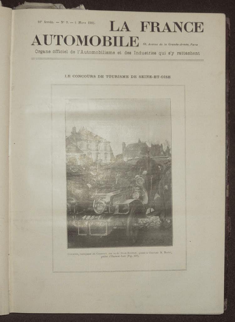 La France Automobile 1905, 10 ème année, 52 numéros, reliée en 1 volume.