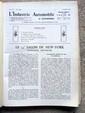 L'INDUSTRIE AUTOMOBILE 1933 et 1934 : publication mensuelle, les années sont reliées en deux volumes