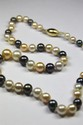 COLLIER de perles blanches et perles grisesPoids brut: 39,3 g