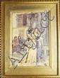 ECOLE FRANCAISE FIN XIXÈ - DEBUT XXÈME Scène medievale figurant deux jeunes femmes aquarelle sur papier signée en bas à gauche 'Jeanne Chomay, d'après Wagnez'? 44 x 30,5 cm