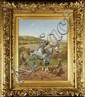 BRUNET-HOUARD Pierre Auguste (1829-1922) Le laboureur Huile sur toile Signée et datée 1909 en bas à gauche 38 x 46 cm