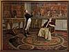 JEAN PAUL LAURENS (1838 1921) Entrevue de Napoleon Ier et du pape Pie VII, en janvier 1813 ». Huile sur toile signee et datee 1894 » en bas a droite. B.E. 139 x 185 cm Historique : Jean Paul LAURENS (1838 1921), peintre de l'Ecole francaise. Succeda