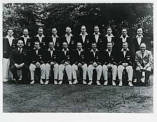 1948 Invincibles Team Photo Signed by Sam Loxton &