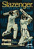 Slazenger Cricket Bat Advertising Card signed by