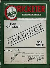The Cricketer Vol XVII No. 1. . Size: 29 X 22.5 cm