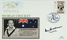 Don Bradman Hand SignedFirst Day Cover with
