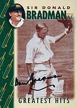 Weet-bix cereal cards Sir Don Bradman Greatest