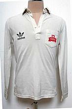 White full sleeved South African shirt signed by SA Captain Hansie Cronje