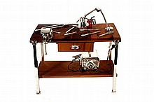 SILVER MINIATURE OF A WELDING TABLE