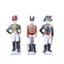 THREE PORCELAIN SOLDIERS
