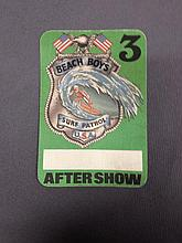 BEACH BOYS AFTERSHOW PASS