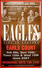 EAGLES A RARE LARGE UK POSTER