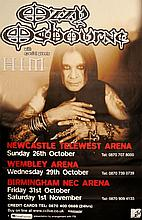 OZZY OSBOURNE BLACK SABBATH UK POSTER