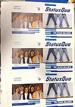 STATUS QUO ORIGINAL UNCUT PROOFS FOR OL RAG BLUES