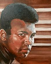BOXING AN ORIGINAL PRINT OF MUHAMMAD ALI BY JAMES WILKINSON