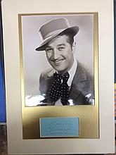 Maurice Chevalier autograph and Photo presentation