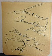 Andrews Sisters Autographs